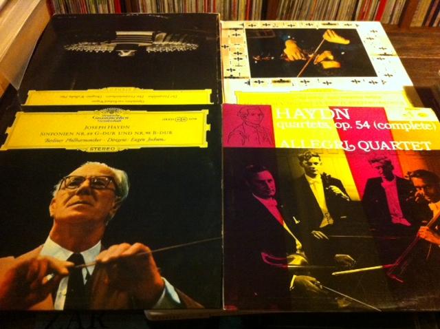 昨晚,便是在吸足毒物,寻得这样的安慰和肯定后,安然入梦的。昨晚的毒是海顿。不同的作曲家给我们提供了不同味道的毒品,每次可以东撷西择,来一剂混合物,也可以单挑一种味道,享用个透彻。这次单用的海顿,约胡姆指挥柏林爱乐的第88、98交响曲和ALLEGRI四重奏演奏的第54号作品。前两天读了辛丰年老先生的音乐笔记,他的文笔非常简明清秀,非常谦逊和悦,对专业知识不多的音乐爱好者来说,春风化雨,润物无声。他几篇谈推荐曲目的文章,最后才讲到海顿,但对海顿的作品推崇备至。从他描绘的古典音乐作曲家年谱线看,也从我